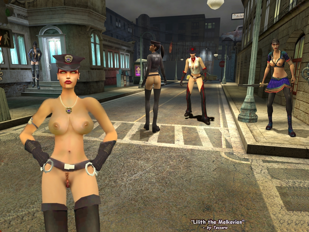 vampire masquerade the bloodlines Nude woman tattoo piercing glasses