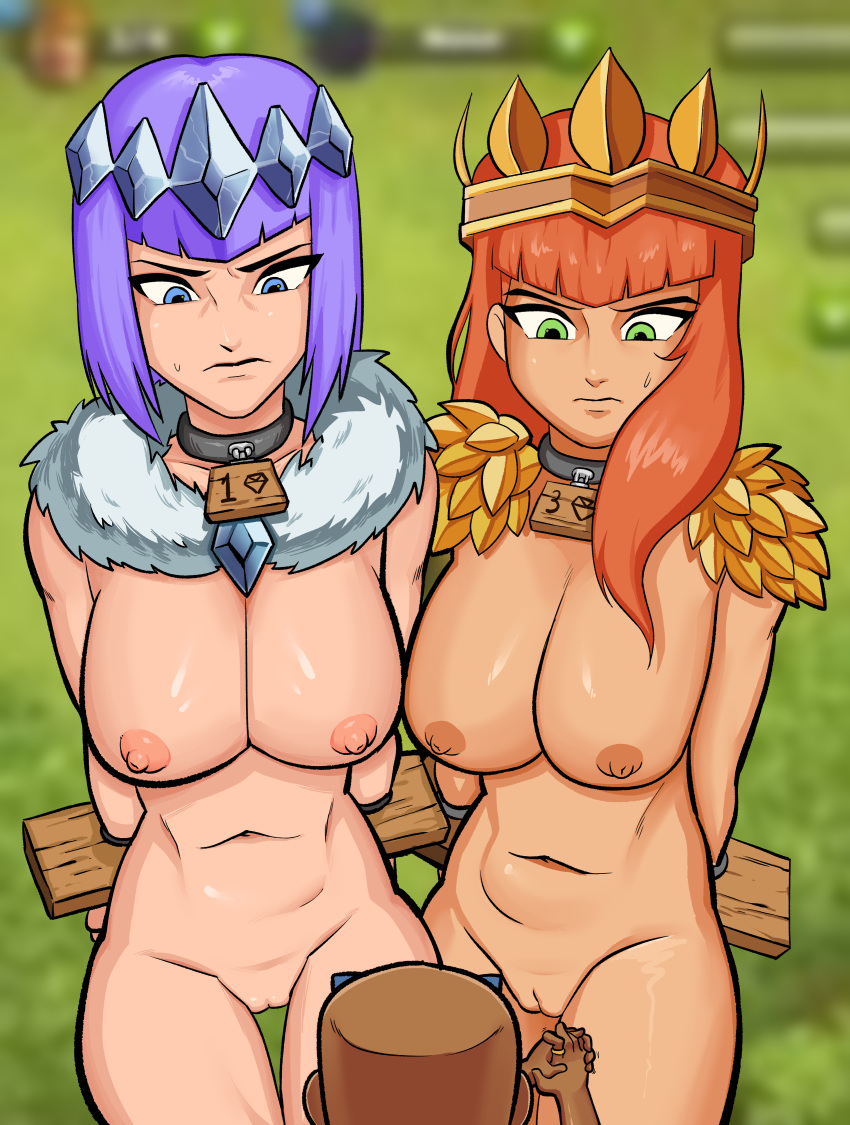 clans clash of naked archer Liru - wolf girl with you